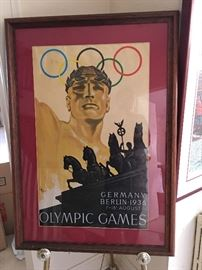 Litho Olympic Games Berlin Germany 1936