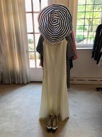Vintage satin gown designer