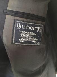 Burberrys Navy suit.