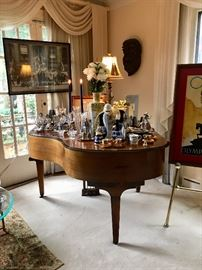 Schaff Bros Baby Grand Piano, Art, Lighting, lamps African Mask.