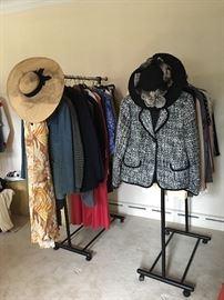 Designer & Vintage Hats & Clothing.