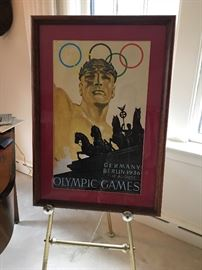 Litho Olympic Games Berlin Germany 1936. COA available.