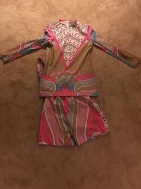 Pucci style short suit 1960's