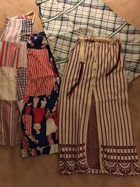 Vintage 1960's Maxi skirts Plaid & Stripes