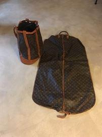 Garment Bag and Bucket Bag Louis Vuitton