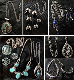 Native American Sterling and Precious Stones Jewelry