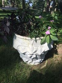 Cement Planters originally from Detroit Cemetery