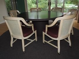 CUSTOM MADE TABLE with CUSTOM LEATHER SEATS!