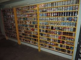 JUST A FRACTION OF THE VINTAGE BEER CANS IN THIS SALE