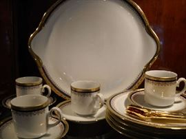 Bavarian espresso set and Limoges cake plate