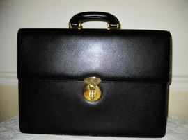 Bally leather attaché briefcase