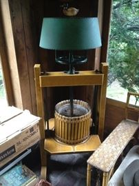 Industrial apple press lamps