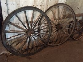 wood and metal wagon wheels