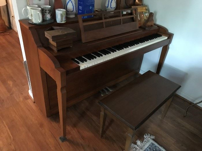 Piano and Bench $ 300.00