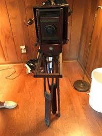 Antique Century No 1 Camera with wood tripod - Priced at the Sale.