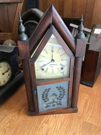 Lots of great Antique Mantle Clocks in various states of repair !