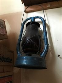 LOADS of vintage Railroad and Oil Lanterns - ALL priced and available at the sale !!