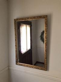 Vintage gold leaf mirror