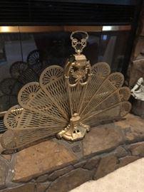 brass fire fan