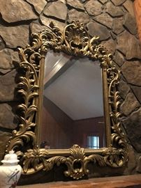 ornate and light weight reasonably priced gold mirror
