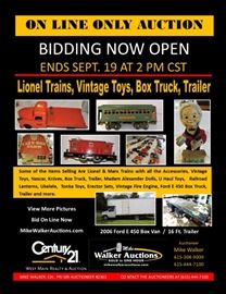 Trains Vintage Toy On Line Auction