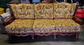 vintage maple colonial style sofa