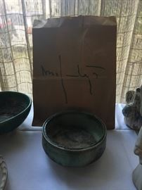 McCarty green bowl $125.00