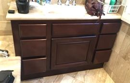 sink and cabinet