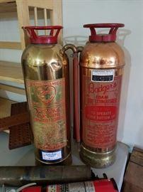 Fire extinguishers vintage