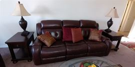 Leather power couch