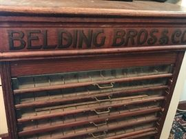 Belding Bros and Co Antique Spool Cabinet