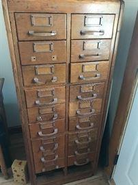 Antique Multi Drawer filing cabinet