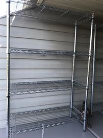 Metal shelves (there are 5 of these)