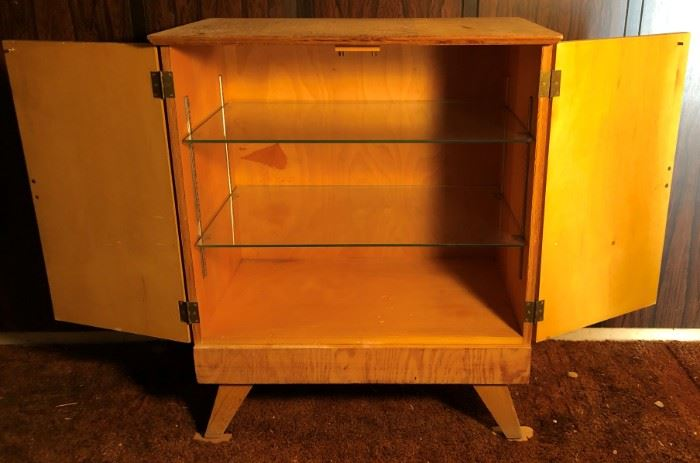 Cabinet w Glass Shelves
