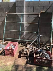 Scaffolding Frame, Legs and Wheels for Scaffolding