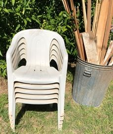 Patio Chairs, Scrap Wood