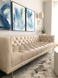 Premium Leather Mina Sofa by Anthropologie