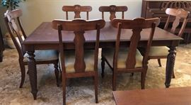Ethan Allen Dining Table w 6 Chairs