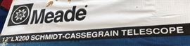 "Meade 12""L x 200 Schmidt Cassegrain Telescope w Tripod"