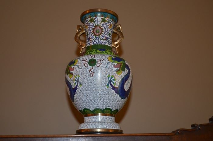 Chinese Qing Dynasty Cloisonné pieces
