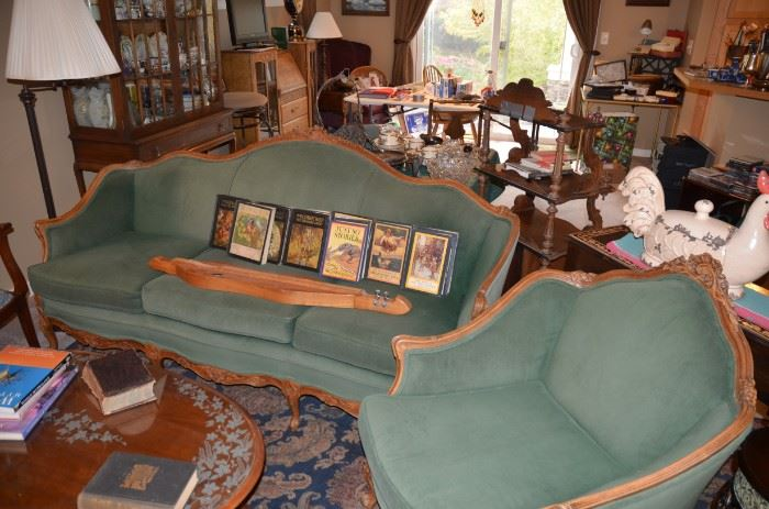 victorian couch and matching chair