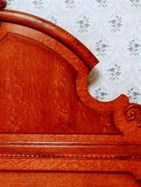 Detail of oak headboard
