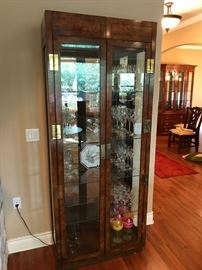 Lighted Curio Cabinet Asian Style