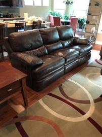Matching Leather Couch- Very High Quality