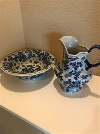 Chinese Marked Pitcher and Bowl