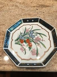 Signed Japanese Plate