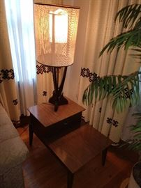 MCM LAMP AND END TABLES