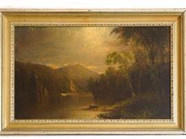 4EK 19th Century American School, Jonson, J.E. Landscape
