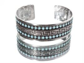 505EK Native American Turquoise and Silver Bracelet