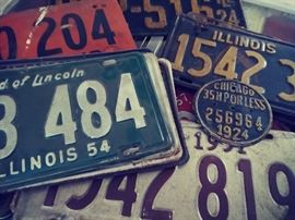 Great Collection of license plates going back to the 30s. Some soy plates too